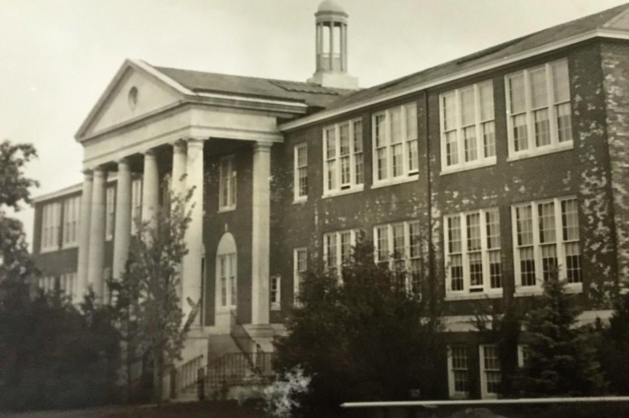 Park Ridge Christmas House 2020 3. Park Ridge High School (2 Park Ave)   Pascack Historical Society